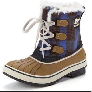 Sorel Tivoli plaid waterproof winter boots 6.5
